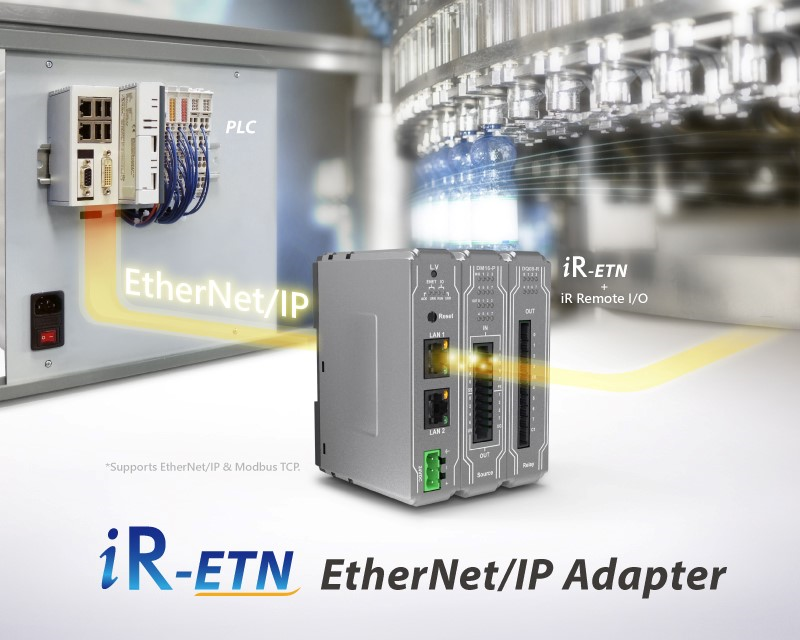 Weintek's iR-ETN coupler for their iR Series i/o now supports Ethernet/IP