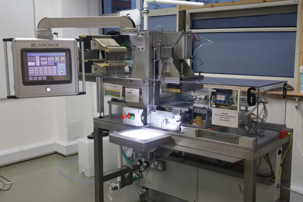 Machine with Weintek HMI in Teknokol enclosure and support arm