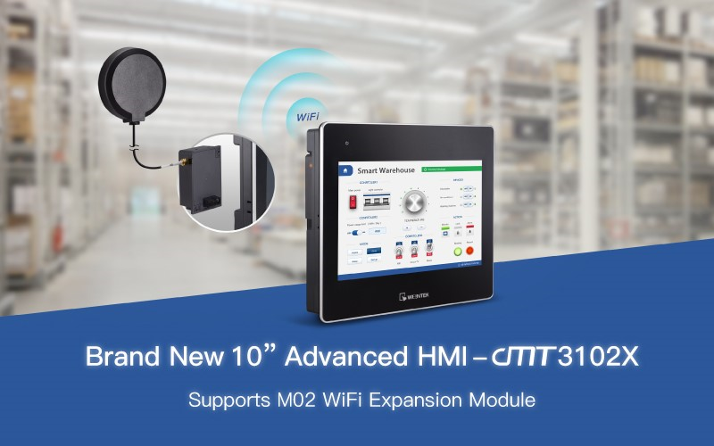 New product announcement from Weintek - cMT3102X HMI supporting WiFI Expansion Module