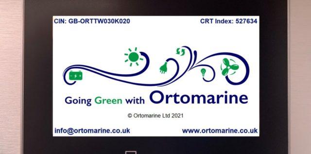 Ortomarine Weintek HMI display